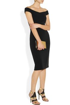 Gucci | Off-the-shoulder stretch-cady sheath dress | NET-A-PORTER.COM