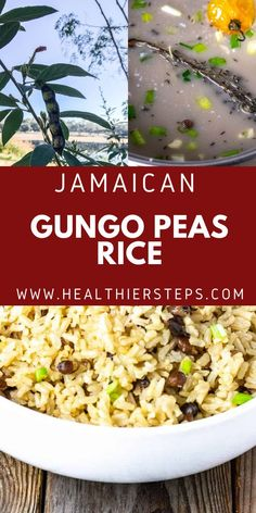 Jamaican Pigeon Peas And Rice is very tasty and popular Jamaican one pot side, made with pigeon peas also known as Gungo peas in Jamaica and cooked in seasoned coconut milk. Vegan Cabbage Recipes, Best Vegan Recipes, Best Dinner Recipes, Holiday Recipes, Rice And Pigeon Peas, Rice And Peas, Jamaican Rice, Jamaican Recipes, Vegan Side Dishes