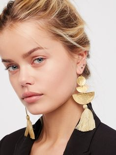 Sandy Hyun Bryce Canyon Tassel Earrings at Free People Clothing Boutique