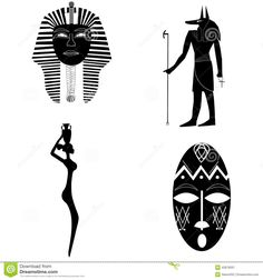 Image from https://thumbs.dreamstime.com/z/african-silhouettes-tradition-history-religion-mask-pharaoh-anubis-woman-jug-mask-tribe-43878397.jpg.