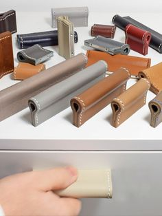 Turn any furniture piece into a centerpiece! This cabinet hardware fits all furniture ✓ No Minimum Order ✓ Handmade in Germany ✓ Premium Leather ✓ Unique Furniture, Luxury Furniture, Furniture Design, Cabinet And Drawer Pulls, Cabinet Handles, Cabinet Hardware, Furniture Handles, Furniture Hardware, Tv Unit Interior Design