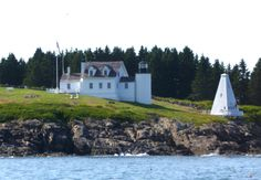 The Tenants Harbor Lighthouse on Southern Island, Maine. Jamie Wyeth owns the building, and his studio is in the reconstructed pyramidal bell tower. When I took the lighthouse tour one summer, he came out of the studio in his apron and shot off the cannon, to the delight of the tourists.