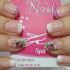 Creemos que estos Pines pueden gustarte - alexaverdesoto1980@gmail.com - Gmail Love Nails, Pretty Nails, Hello Nails, Nail Picking, Teen Nails, Nail Tip Designs, French Tip Nails, Cute Nail Art, Beautiful Nail Designs