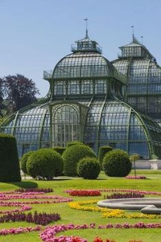 Vienna, Schoenbrunn castle, palm house, Austria by iris-flower Beautiful Architecture, Beautiful Buildings, Beautiful Places, Places Around The World, Around The Worlds, Places To Travel, Places To Visit, Victorian Greenhouses, Parks
