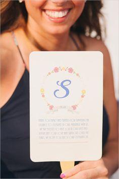 Wedding Chicks Free Printable monogram fan program