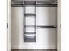 The built-in closets