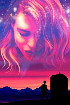 """licieoic: """" """"Bad Wolf Sunset"""" - Digital Oil Painting This was actually the first one I painted in this series, it just took me a while to post it. I love the idea of the Doctor looking up at the sky and seeing Rose's face among the twilight..."""