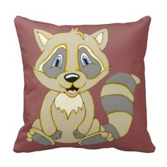 Rocky Raccoon Square Pillow