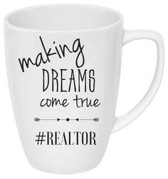 Making dreams come true hashtag realtor mug  White 14 oz mug