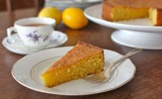 Gluten Free - Lemon, Cornmeal & Almond Cake C. Gave to Ed Strong for breakfast, Bob and Mother got some too. Food Cakes, Cupcake Cakes, Lemon Recipes, Cake Recipes, Dessert Recipes, Gf Recipes, Gluten Free Cakes, Gluten Free Baking, Almond Cakes