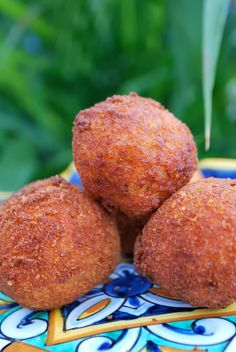 Lobster / Mozzarella Arancini (fried rice balls or croquettes) ~ made with leftover Lobster risotto