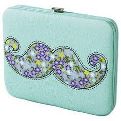 Xhilaration® Floral Mustache Wallet - Jade
