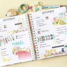 Week in my @shopbando planner!  I used my coleto pen to write down my activities and chores and used some ephemera phrase stickers and watercolor words just to inspire myself   #bandoplanner #shopbandoplanner #plannergirl by carladetaboada