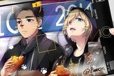 F: Yuri on Ice (otabek and Yurio) by Pinochi.deviantart.com on @DeviantArt