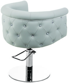 With a Side of Bling CINDARELLA'S Fauteuil Glow combines unparalleled comfort with high-fashion finishes. You can even add Swarovski crystals for a Paris, retro-glamour look. Let your imagination run wild with more than 200 colors that allow you to fully customize your salon. Style it up with the matching shampoo station from the same collection.
