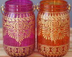 Satz von 4 marokkanischen Stil Einmachglas Laternen von LITdecor