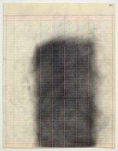 Derek Dunlop Mason Ledger Rubbing #63 2014 13 ¾ x 10 5/8 Inches. Carbon on found paper