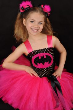 Batman superhero girly costume black and by SofiasCoutureDesigns