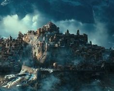 The Ruined City of Dale in the Shadow of the Lonely Mountain