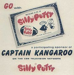 Loved copying comics on Silly Putty.  Loved Captain Kangaroo & Mr. Green Jeans<3