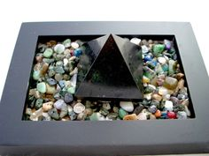 Black TOURMALINE PYRAMID, Gift Idea for Father's Day, a ZENGEM Garden filled…