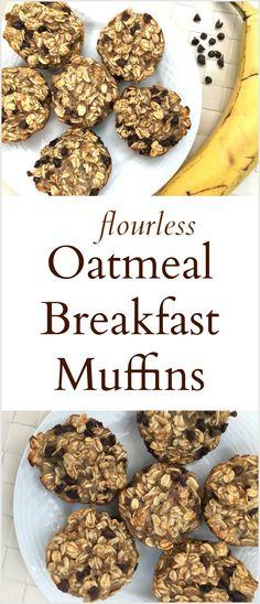 Flourless Oatmeal Breakfast Muffins (baking, breakfast, healthy recipes)