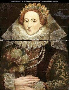 Portrait of Queen Elizabeth I of England (1533-1603) - (after) Federico Zuccaro
