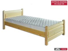 Drewmax LK129 - Dřevěná postel masiv jednolůžko 80cm Toddler Bed, Furniture, Home Decor, Beds, Child Bed, Decoration Home, Room Decor, Home Furnishings, Home Interior Design