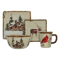 Holiday Illustrations 12-piece Dinnerware Set by Lenox | Lenox ...