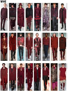 Textile Candy: Autumn/Winter 2016 Menswear trends: Colour palette and styling