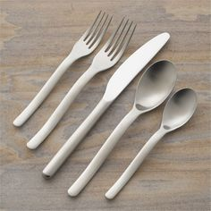 Sway 5-Piece Flatware Place Setting - Crate and Barrel