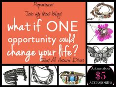 1 opportunity CAN change your life!!! It certainly changed mine for the better!!!  :)  Melissa J. Rooker Paparazzi Independent Consultant Producer 740.304.9109 http://www.facebook.com/PaparazziwithMelissa10559 www.paparazziaccessories.com/10559