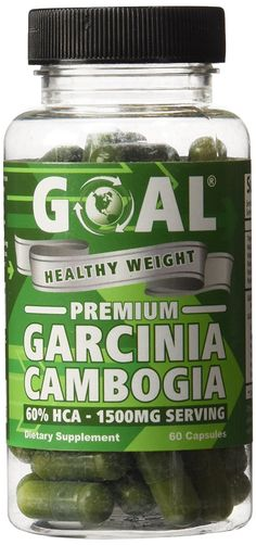 GOAL Healthy Weight - Premium Garcinia Cambogia 60 Capsules - Contains 1500mg of 60% HCA Pure Garcinia Cambogia Extract Per Serving - Best Weight Loss Supplement Natural Belly Fat Burners Diet Pills Complex Products that Really Works Fast for Women and Men Energy Boosters Pills ** See this awesome image @ : Garcinia cambogia