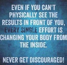 Never give up! This is a life-long commitment to be happy & healthy.