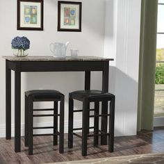 Charlton Home Rea 3 Piece Pub Table Set & Reviews | Wayfair