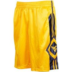 Nike West Virginia Mountaineers Gold In Your Face Basketball Shorts