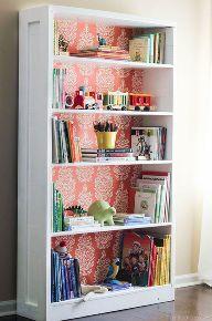 painted furniture decoupage bookshelf makeover, decoupage, painted furniture, shelving ideas