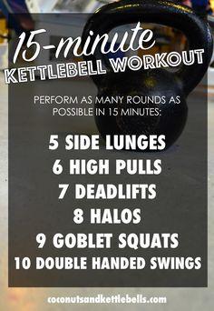 15 Minute Kettlebell Workout - Coconuts & Kettlebells