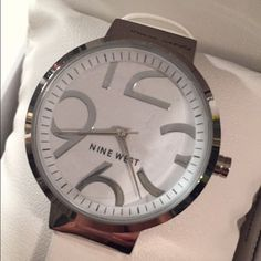Nine West watch White Nine West watch, brand new! Got it for Christmas but not really my style. Nine West Accessories Watches