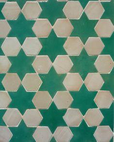 Spanish zellij mosaic ceramic tile from Antigua Del Mar Tile