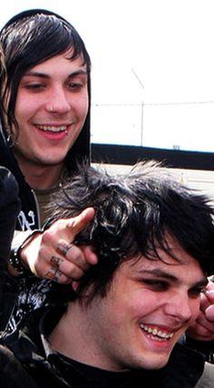 Frank Iero & Gerard Way of My Chemical Romance