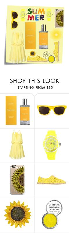 """#GIFTGUIDE #balmbalm #summer"" by franklindrossalie on Polyvore featuring Post-It, Moschino, WithChic, Ice, Casetify, Soludos and Obsessive Compulsive Cosmetics"