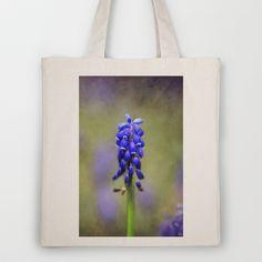 little blue bells Tote Bag by Angela Bruno - $18.00
