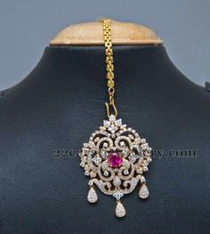 Jewellery Designs: Enchanting Diamond Tikka