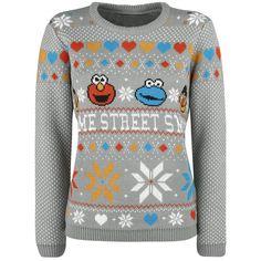 Sesame Street - Seasons Greetings - Christmas Knit Jumper  - gebreide trui