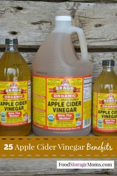 25 Apple Cider Vinegar Benefits by Food Storage Moms Love the tip for sunburns and age spots!