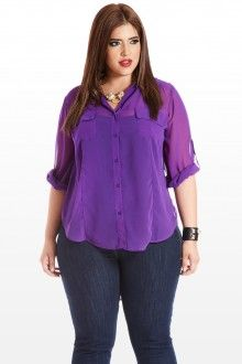 sheer purple shirt.  http://www.fashiontofigure.com