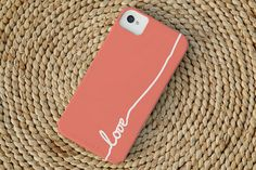 Love iPhone Case in Coral