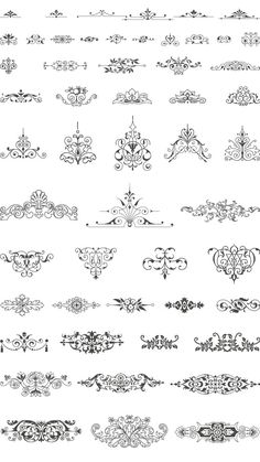 vector art for artdeco embroidery patterns Henna Tattoo Muster, Muster Tattoos, Tattoo Henna, Stencil Patterns, Embroidery Patterns, Et Wallpaper, Doodle Drawing, Etiquette Vintage, Doodles Zentangles