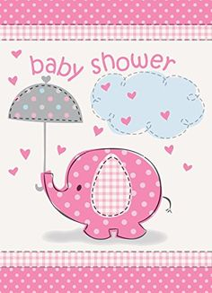 Umbrella Elephant Girl Baby Shower In... $1.29 #topseller